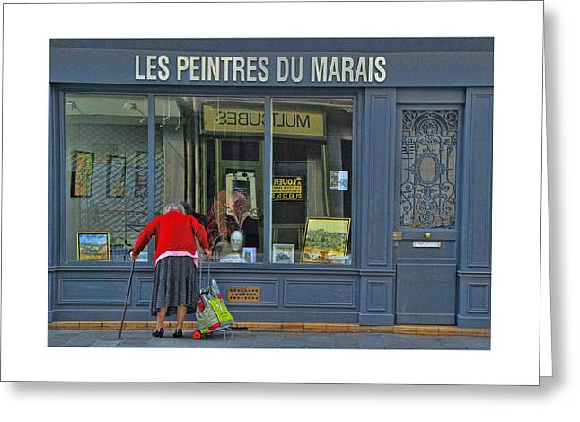 Window Shopping Greeting Card by Allen Beatty