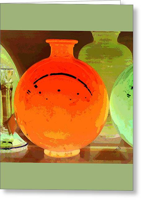 Window Shopping For Glass Greeting Card