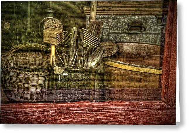 Window Shopping Greeting Card by Mary Timman