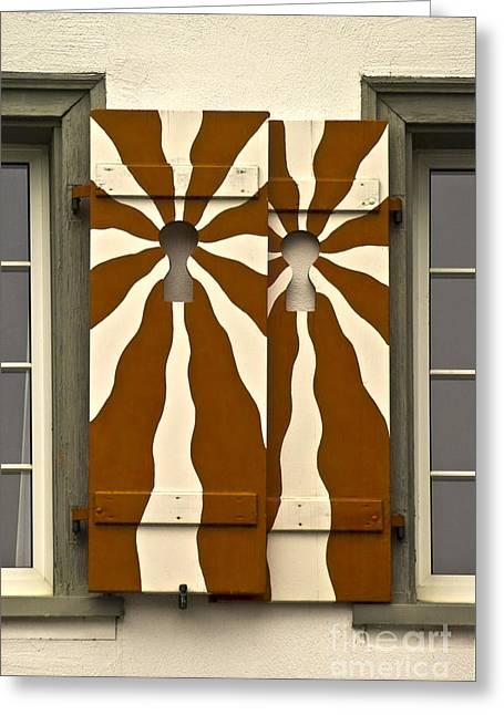 Window Shutter 3 Greeting Card