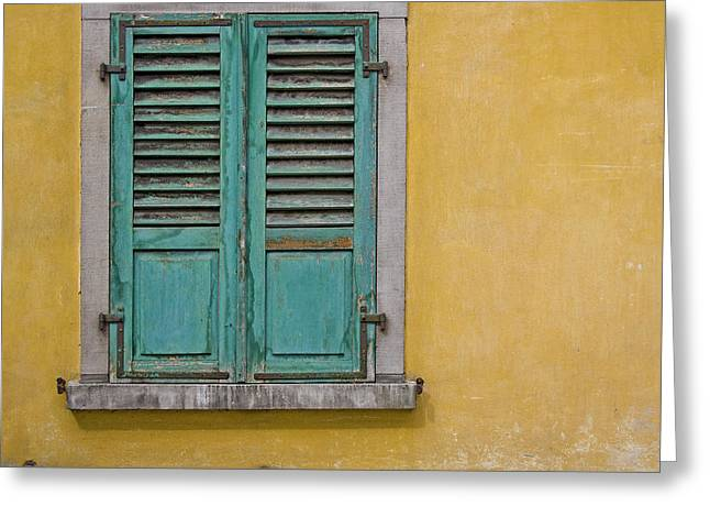 Window Shutter Greeting Card by Heiko Koehrer-Wagner