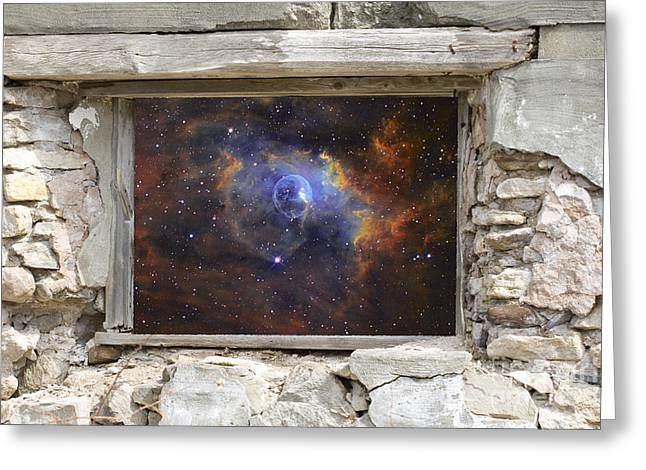 Window To Space Greeting Card