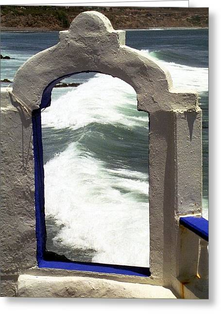 Window To The Ocean Greeting Card