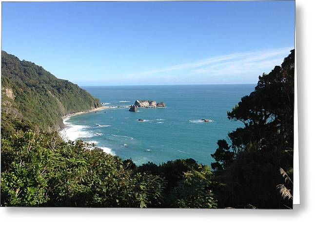 Window To The Ocean Greeting Card by Ron Torborg