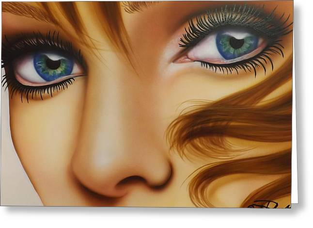 Window To The Soul Greeting Card by Darren Robinson
