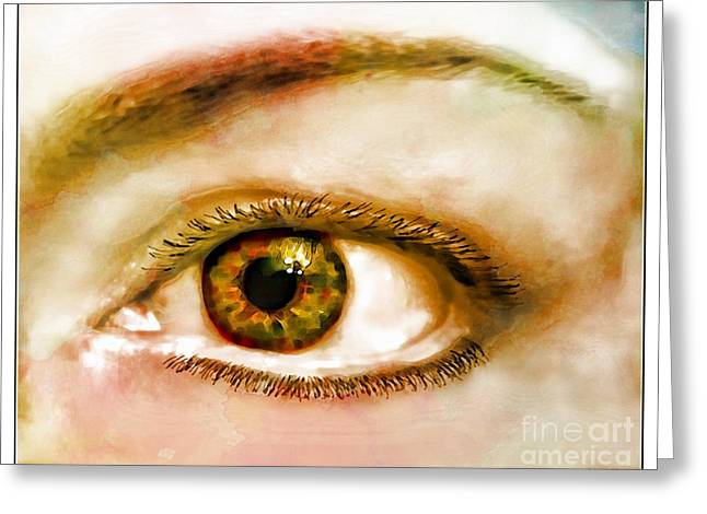 Window To The Soul II Greeting Card by Debbie Portwood