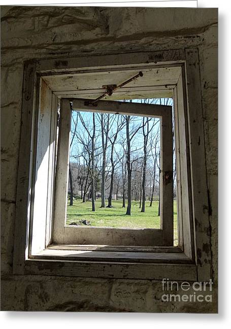 Window To The World Greeting Card