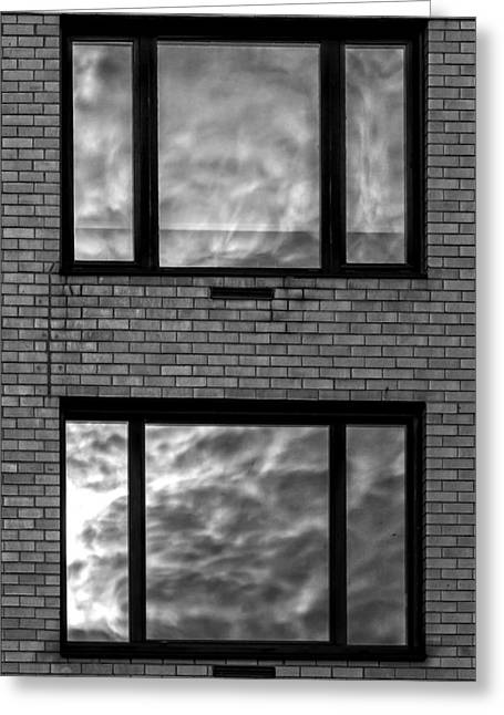 Windows And Clouds Greeting Card by Robert Ullmann