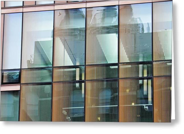 Windows At Barnard Greeting Card by Sarah Loft
