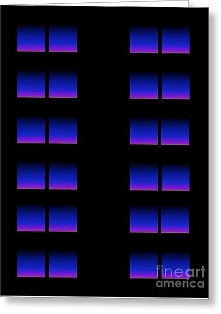 Windows Greeting Card by Gayle Price Thomas