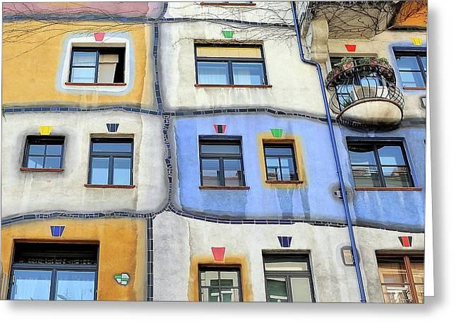 Windows Of Hundertwasser Greeting Card