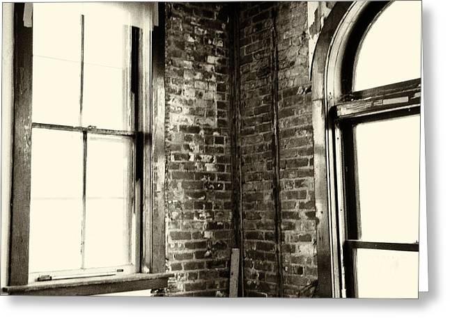 Windows Of Time Greeting Card by Karol Livote