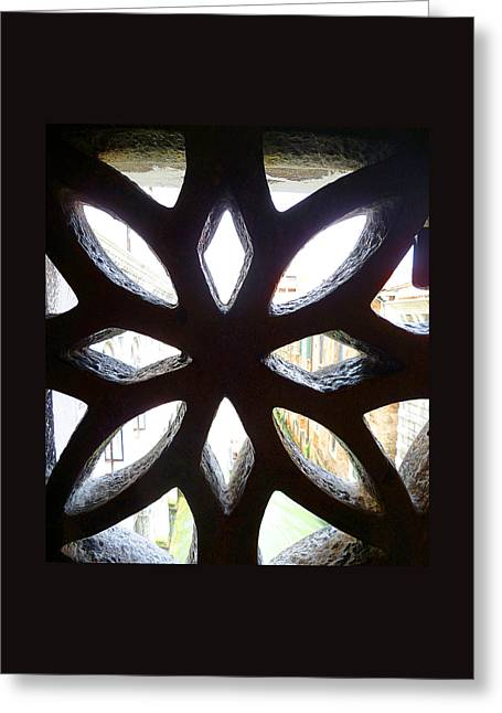 Windows Of Venice View From Doge Palace Greeting Card by Irina Sztukowski