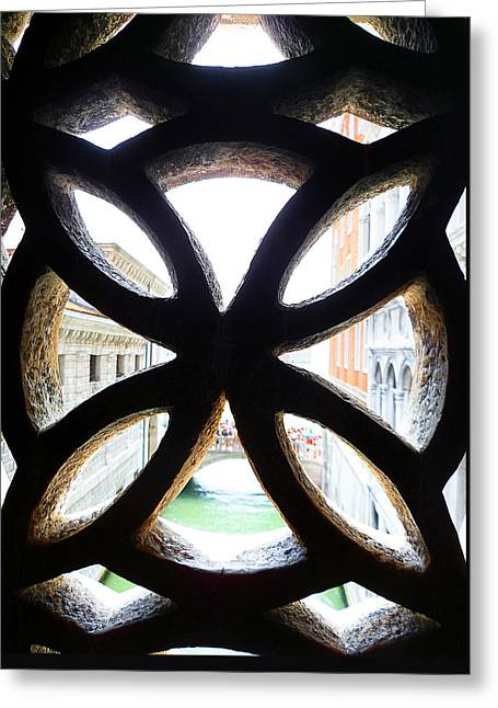 Windows Of Venice View From Palazzo Ducale Greeting Card by Irina Sztukowski