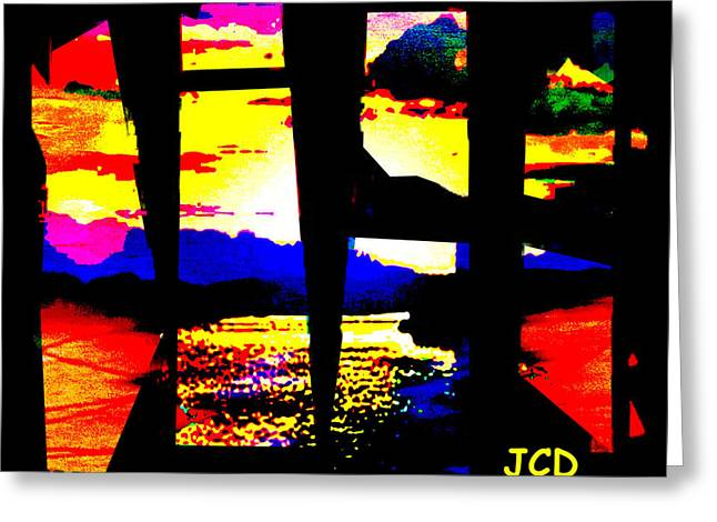 Windows On A Wonderful Scenery Greeting Card by Jean-Claude Delhaise