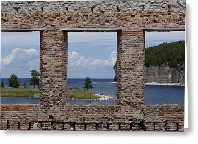 Windows On Snail Shell Harbor Greeting Card