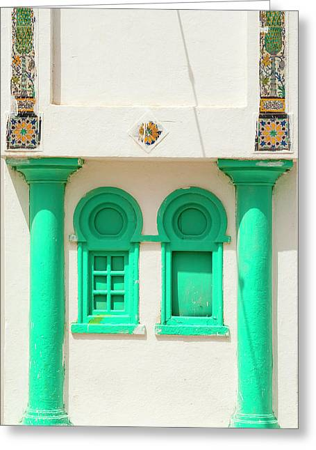 Windows, Tabarka, Tunisia, North Africa Greeting Card by Nico Tondini