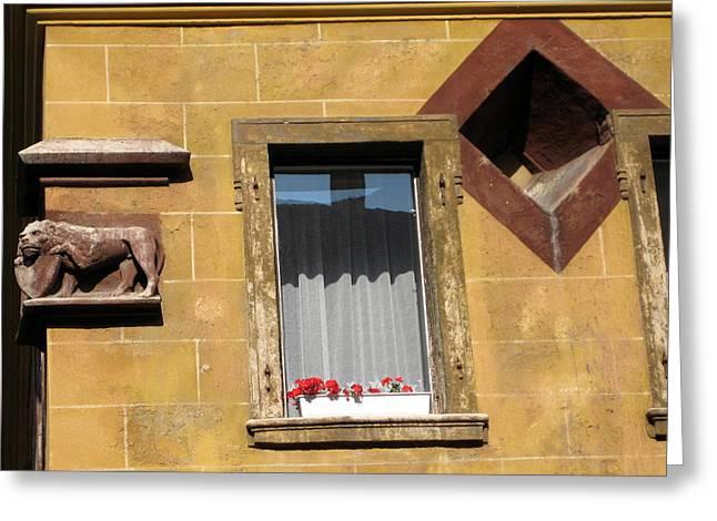 Windows To Budapest Greeting Card