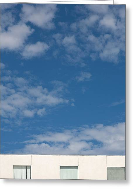 Windows To The Sky Greeting Card by Peter Tellone