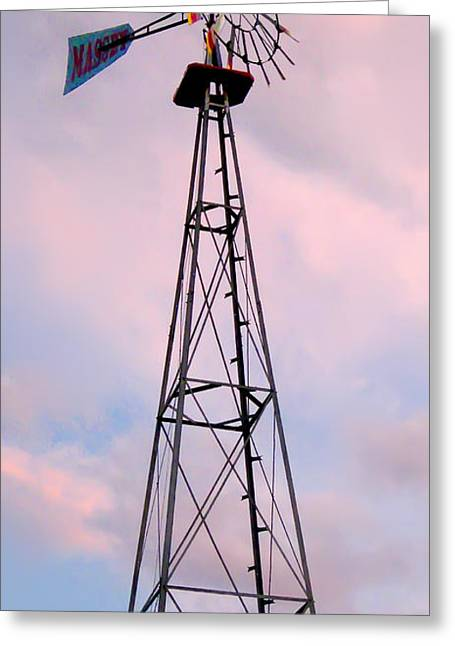 Greeting Card featuring the photograph Windpump by Brian Wallace