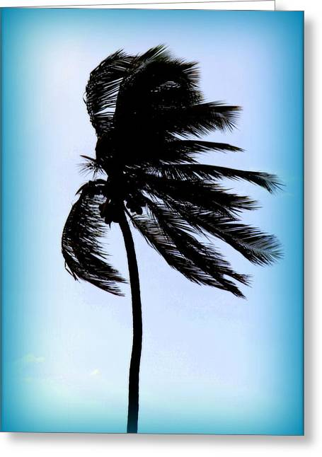 Winds Of Blue Greeting Card by Karen Wiles