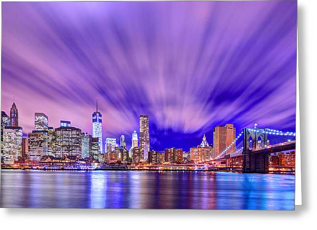 Winds Of Lights Greeting Card