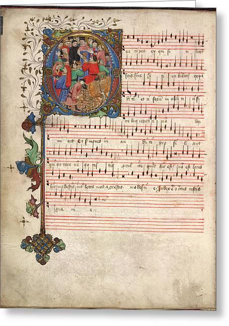 Windsor Carol Book Greeting Card by British Library