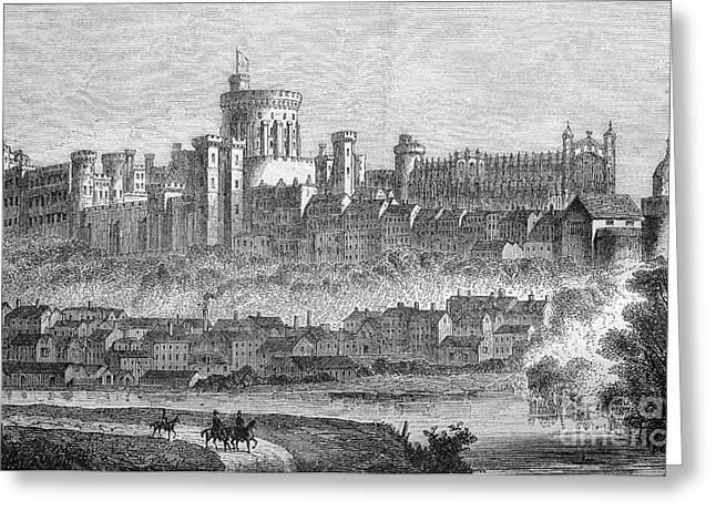 Windsor Castle, 1880s Greeting Card by Bildagentur-online