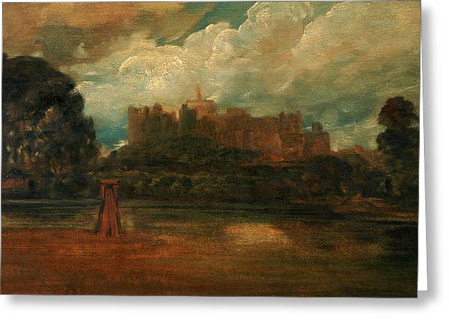 Windsor Castle, Attributed To Peter Dewint Greeting Card by Litz Collection