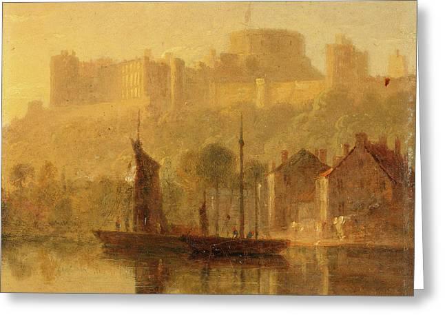 Windsor Castle From The Thames, William Daniell Greeting Card by Litz Collection