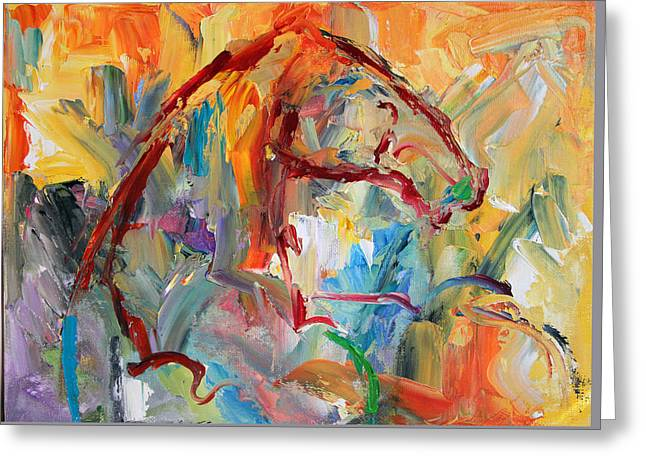 Windstorm  Horse  28 2014 Greeting Card