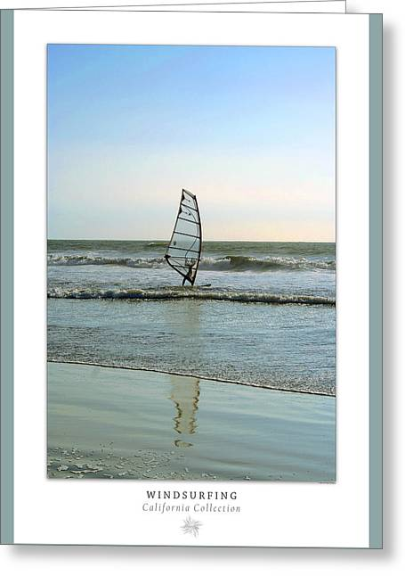 Windsurfing Art Poster - California Collection Greeting Card