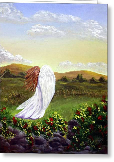 Windswept Angel Greeting Card