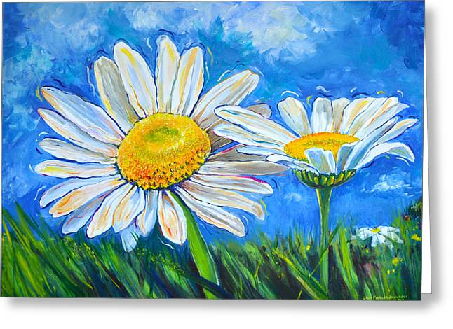 Windswept Daisies Greeting Card