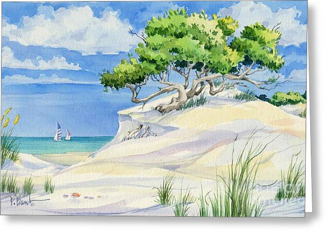 Windswept Dunes Greeting Card by Paul Brent