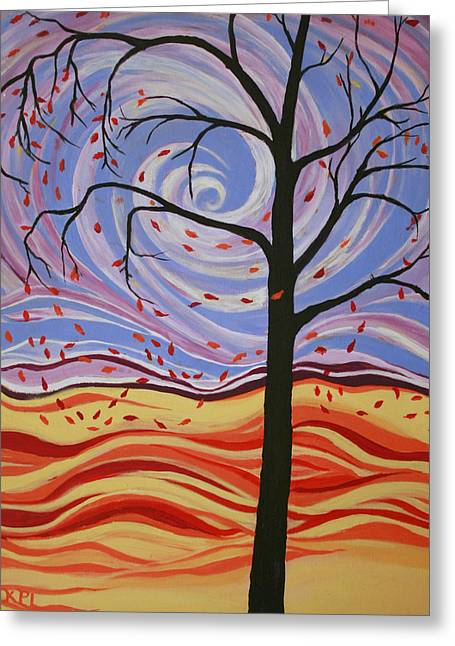 Windswept Greeting Card by Kathy Peltomaa Lewis
