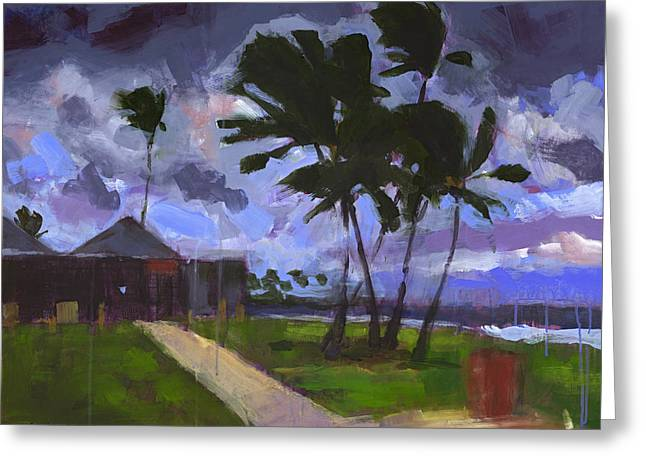 Windward Stormclouds Greeting Card by Douglas Simonson