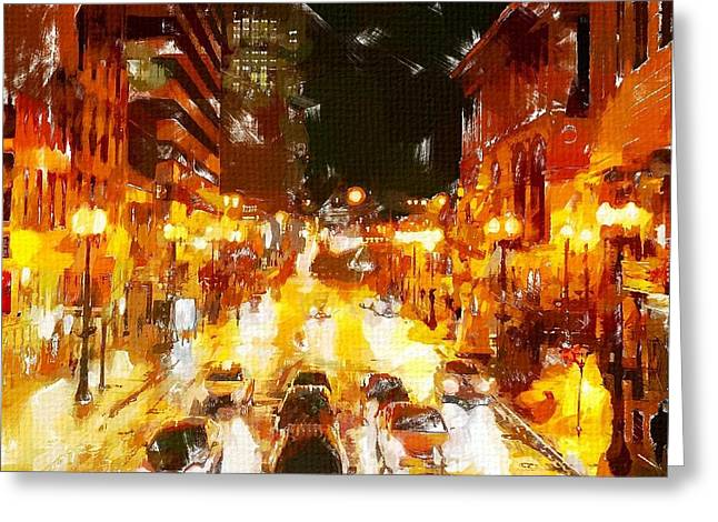 Windy City 2 Greeting Card by Chris Butler