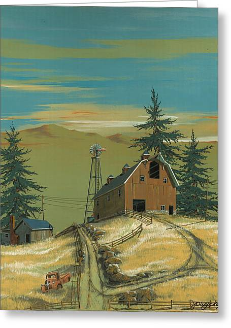 Windy Knoll Greeting Card by John Wyckoff