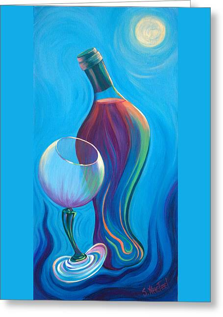 A Wine Affair Greeting Card