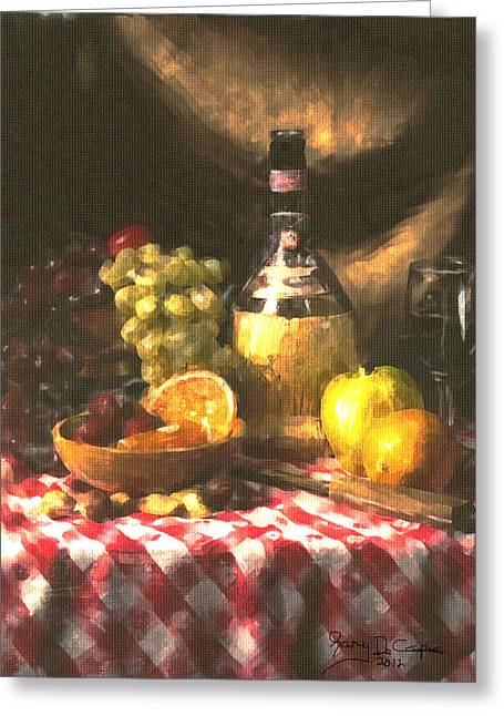 Wine And Fruit Greeting Card