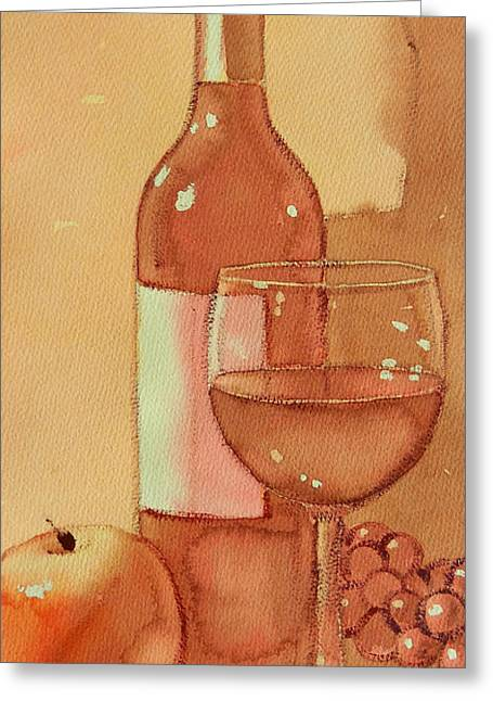 Wine And Sunshine One Greeting Card