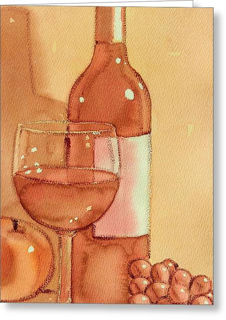 Wine And Sunshine Two Greeting Card
