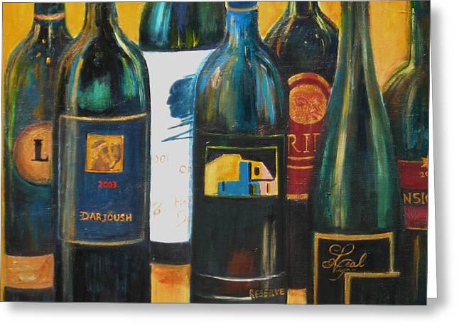 Wine Bar Greeting Card by Sheri  Chakamian