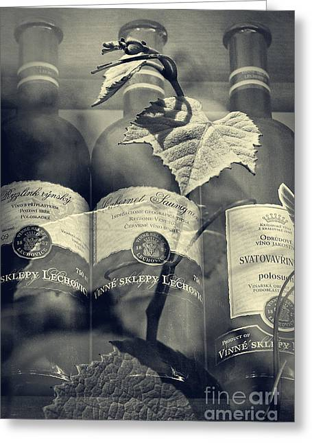 Wine - Beginning And The End Greeting Card by Martin Dzurjanik