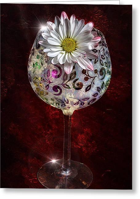 Wine Bouquet Greeting Card by Bill Tiepelman