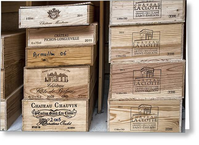 Wine Boxes Greeting Card