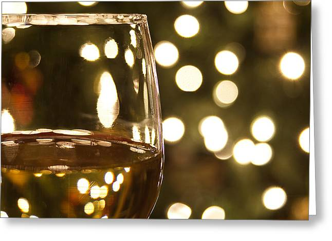 Wine By The Lights Greeting Card by Andrew Soundarajan