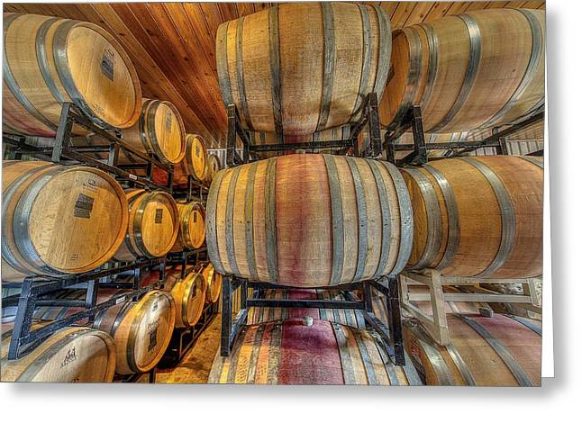 Wine Cask Room  Greeting Card by David Morefield