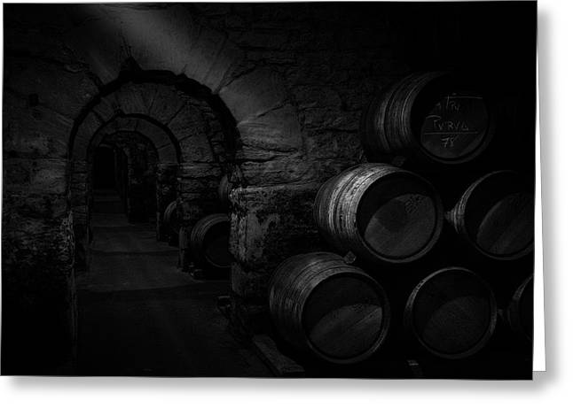 Wine Cellar Greeting Card